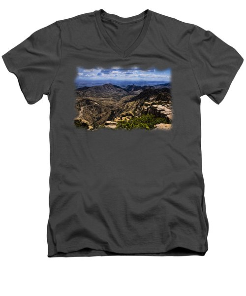 Windy Point No.11 Men's V-Neck T-Shirt by Mark Myhaver