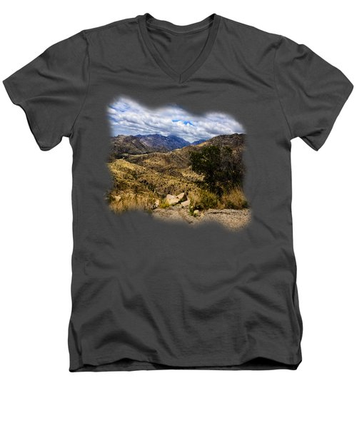 Windy Point No.15 Men's V-Neck T-Shirt by Mark Myhaver