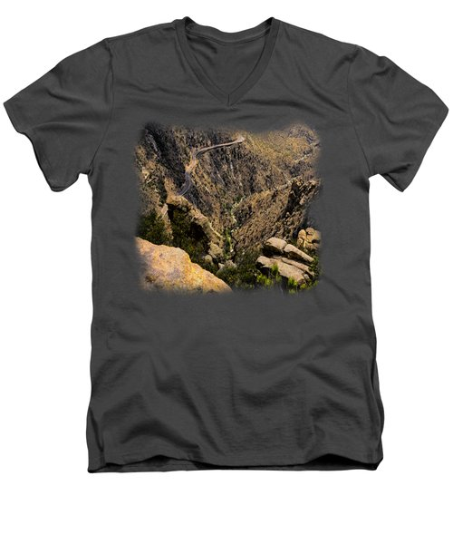 Windy Point No.9 Men's V-Neck T-Shirt by Mark Myhaver