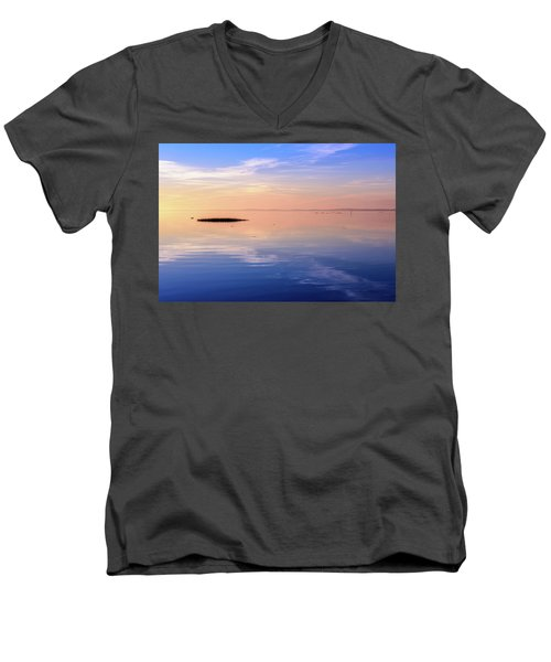 Men's V-Neck T-Shirt featuring the photograph Xtra Blue by Thierry Bouriat