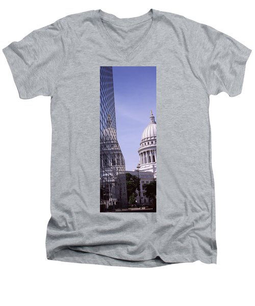 Low Angle View Of A Government Men's V-Neck T-Shirt by Panoramic Images