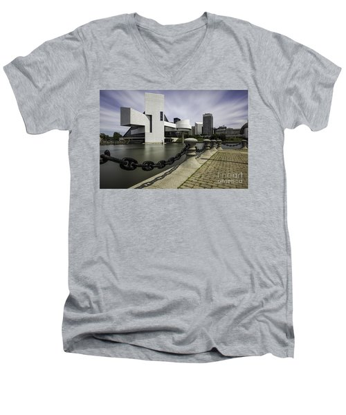Rock And Roll Men's V-Neck T-Shirt by James Dean