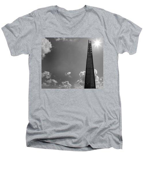 The Shard London Men's V-Neck T-Shirt by Martin Newman