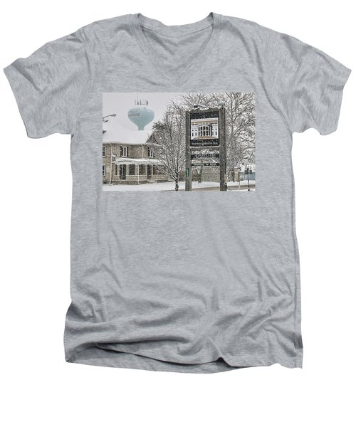 The Whitehouse Inn Sign 7034 Men's V-Neck T-Shirt by Jack Schultz