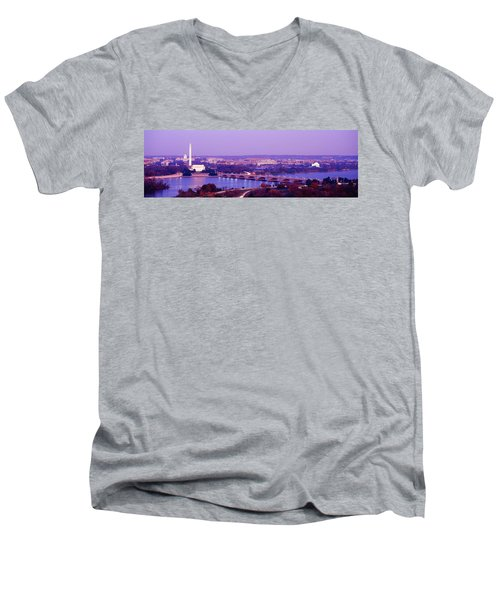Washington Dc Men's V-Neck T-Shirt by Panoramic Images