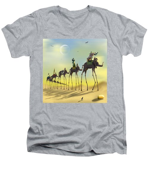On The Move Men's V-Neck T-Shirt by Mike McGlothlen