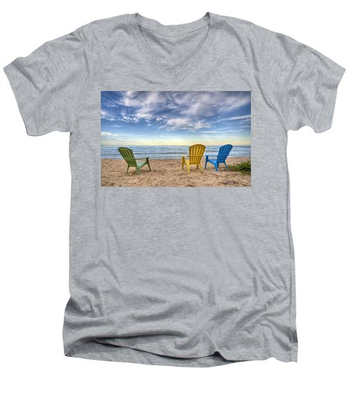 3 Chairs Men's V-Neck T-Shirt by Scott Norris