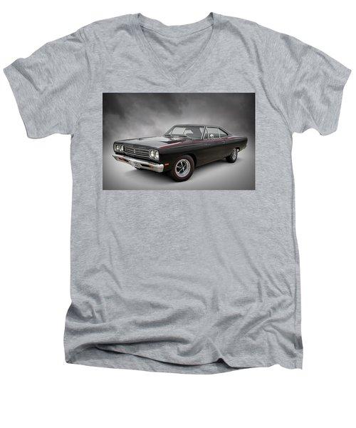 '69 Roadrunner Men's V-Neck T-Shirt by Douglas Pittman