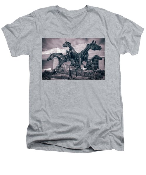 A Monument To Freedom II Men's V-Neck T-Shirt by Joan Carroll