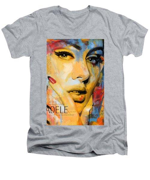 Adele Men's V-Neck T-Shirt by Corporate Art Task Force