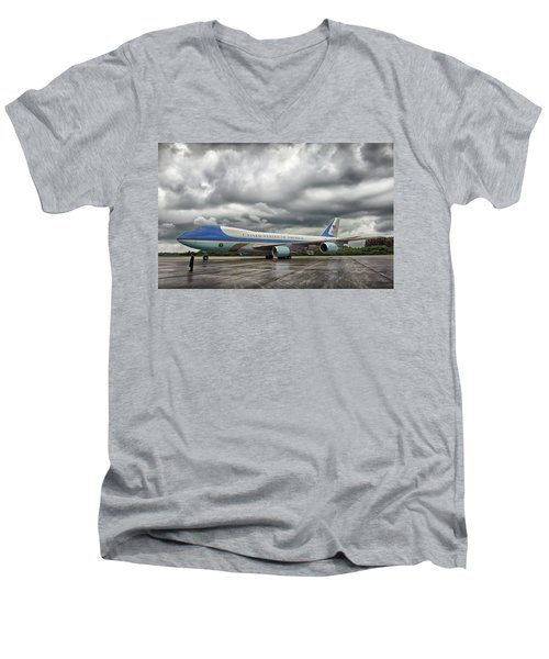 Air Force One Men's V-Neck T-Shirt by Mountain Dreams