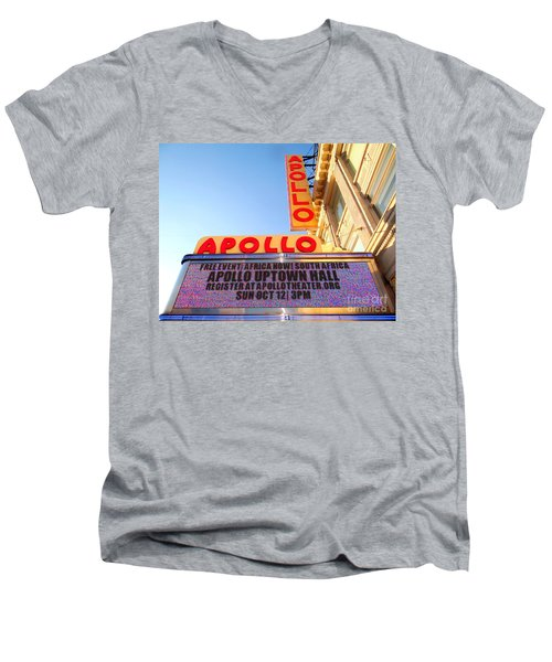 At The Apollo Men's V-Neck T-Shirt by Ed Weidman