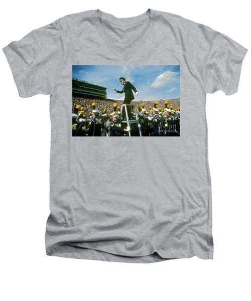 Band Director Men's V-Neck T-Shirt by James L. Amos
