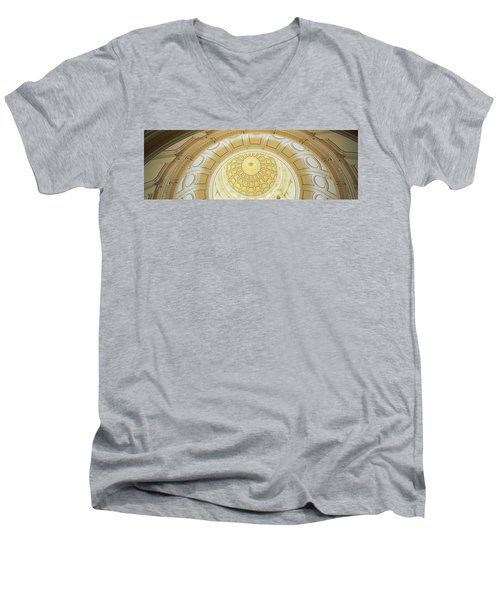 Ceiling Of The Dome Of The Texas State Men's V-Neck T-Shirt by Panoramic Images