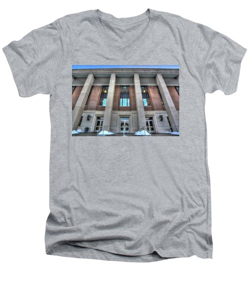 Coffman Memorial Union Men's V-Neck T-Shirt by Amanda Stadther