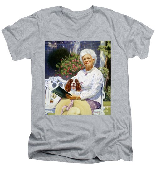 Companions In The Garden Men's V-Neck T-Shirt by Candace Lovely