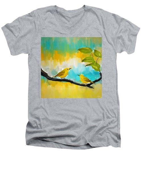 Companionship Men's V-Neck T-Shirt by Lourry Legarde