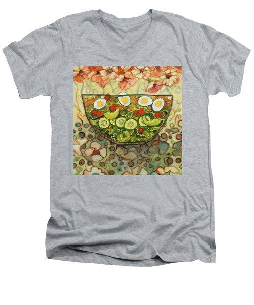 Cool Summer Salad Men's V-Neck T-Shirt by Jen Norton