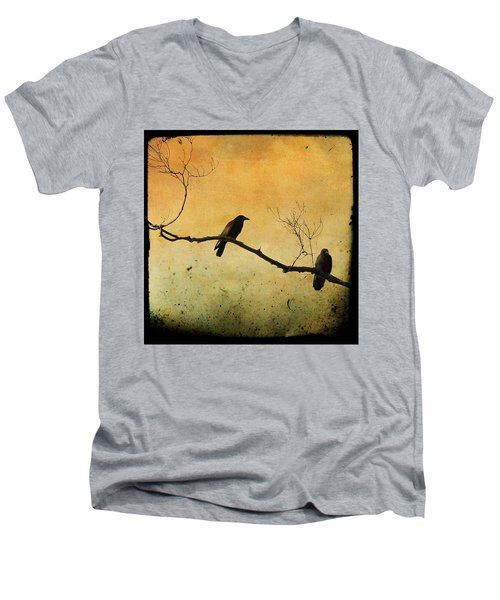 Crowded Branch Men's V-Neck T-Shirt by Gothicolors Donna
