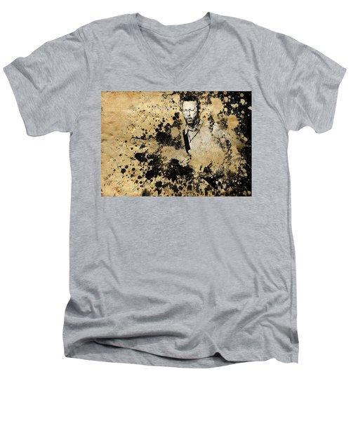 Eric Clapton 3 Men's V-Neck T-Shirt by Bekim Art