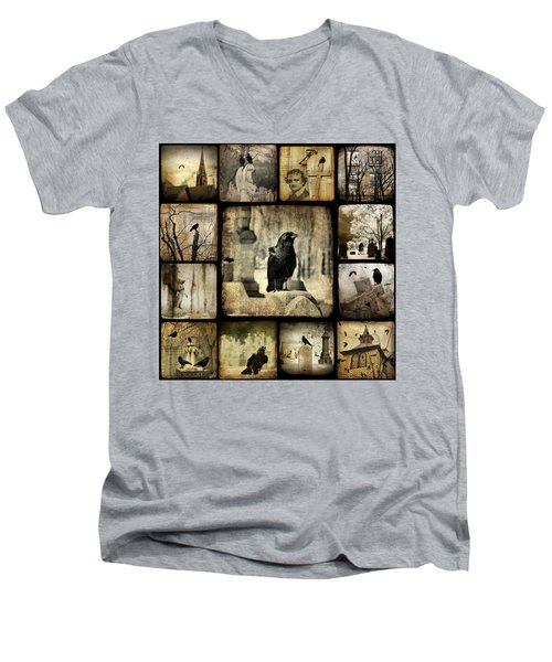 Gothic And Crows Men's V-Neck T-Shirt by Gothicolors Donna
