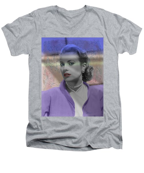 Grace Kelly - Featured In Comfortable Art Group Men's V-Neck T-Shirt by EricaMaxine  Price