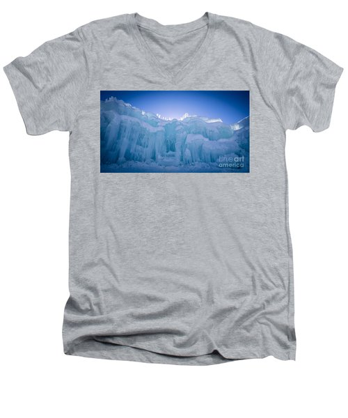 Ice Castle Men's V-Neck T-Shirt by Edward Fielding
