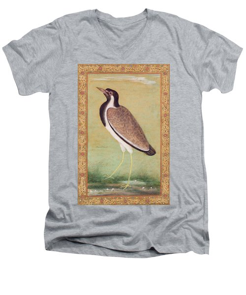 Indian Lapwing Men's V-Neck T-Shirt by Mansur