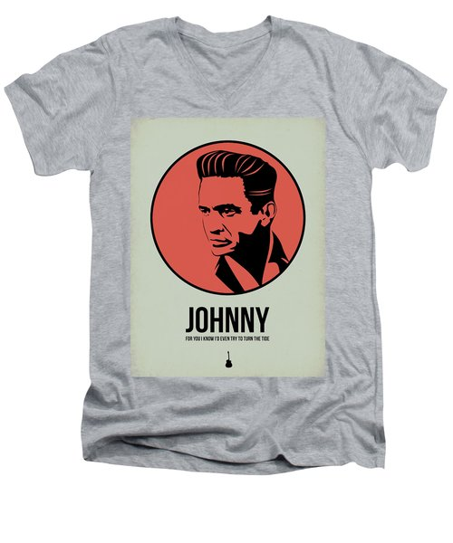 Johnny Poster 2 Men's V-Neck T-Shirt by Naxart Studio