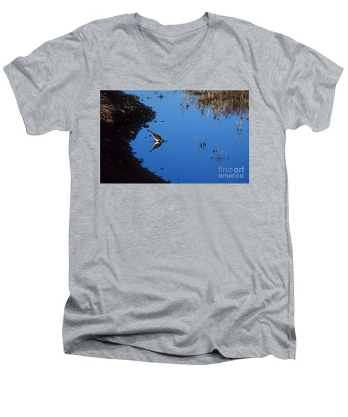 Killdeer Men's V-Neck T-Shirt by Steven Ralser