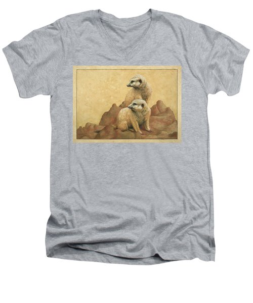 Lookouts Men's V-Neck T-Shirt by James W Johnson