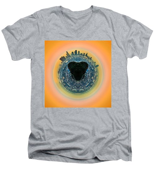 Love La Men's V-Neck T-Shirt by Az Jackson