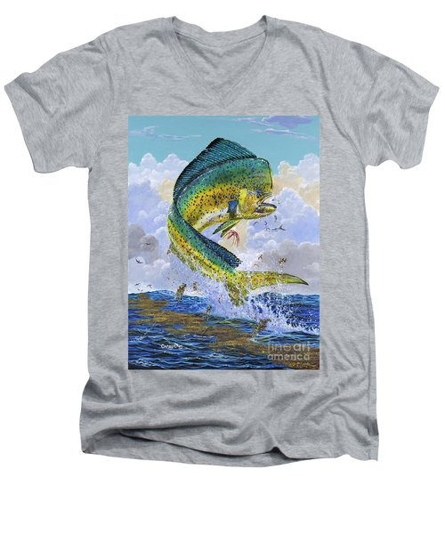 Mahi Hookup Off0020 Men's V-Neck T-Shirt by Carey Chen