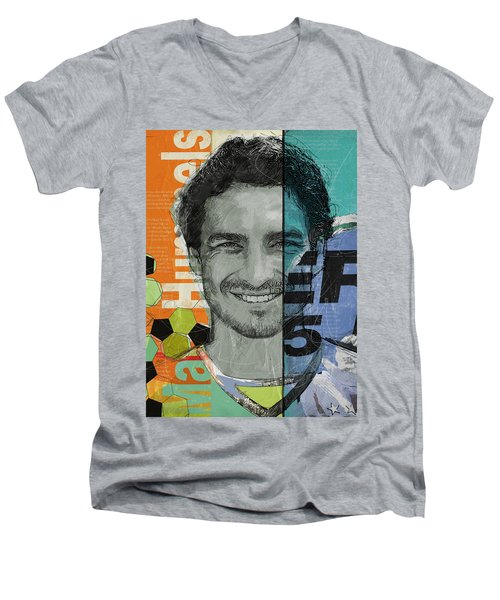 Mats Hummels - B Men's V-Neck T-Shirt by Corporate Art Task Force