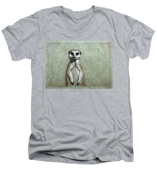 Meerkat Men's V-Neck T-Shirt by James W Johnson