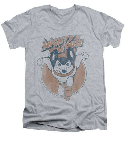 Mighty Mouse - Flying With Purpose Men's V-Neck T-Shirt by Brand A