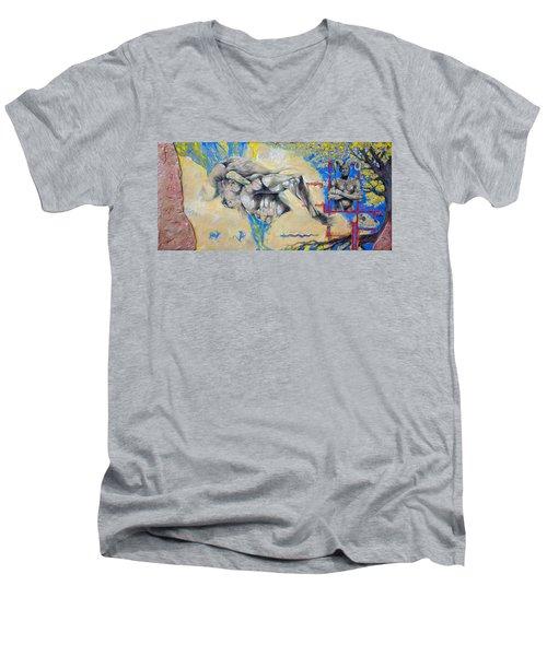 Minotaur Men's V-Neck T-Shirt by Derrick Higgins