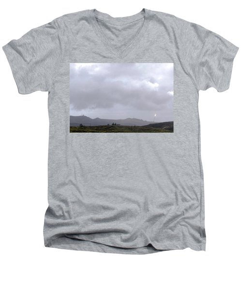 Men's V-Neck T-Shirt featuring the photograph Minotaur Iv Lite Launch by Science Source