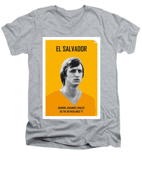 My Cruijff Soccer Legend Poster Men's V-Neck T-Shirt by Chungkong Art