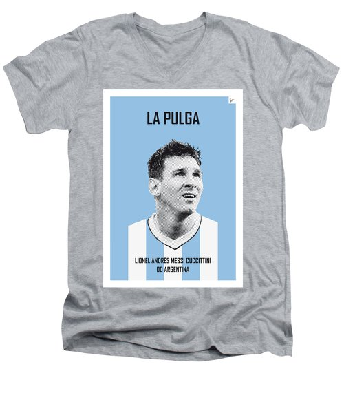 My Messi Soccer Legend Poster Men's V-Neck T-Shirt by Chungkong Art