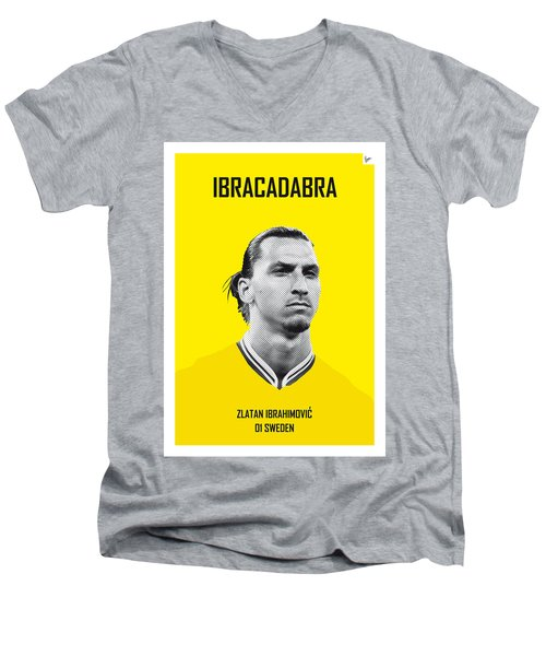 My Zlatan Soccer Legend Poster Men's V-Neck T-Shirt by Chungkong Art