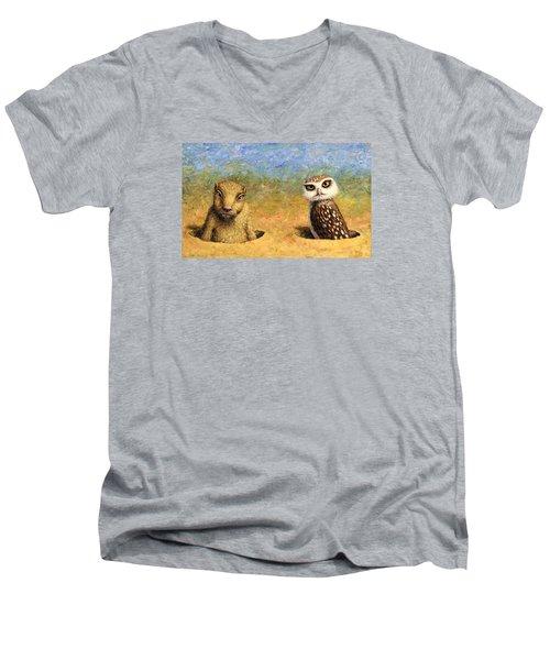 Neighbors Men's V-Neck T-Shirt by James W Johnson