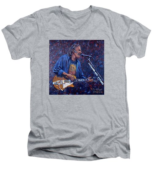 Neil Young Men's V-Neck T-Shirt by John Cruse Knotts