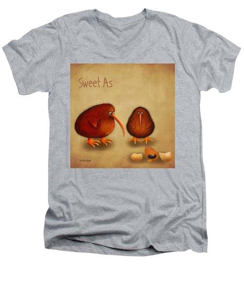 New Arrival. Kiwi Bird - Sweet As - Boy Men's V-Neck T-Shirt by Marlene Watson