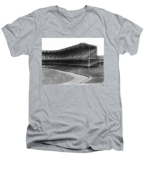 New Yankee Stadium Men's V-Neck T-Shirt by Underwood Archives