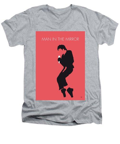 No032 My Michael Jackson Minimal Music Poster Men's V-Neck T-Shirt by Chungkong Art