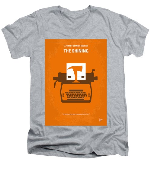 No094 My The Shining Minimal Movie Poster Men's V-Neck T-Shirt by Chungkong Art