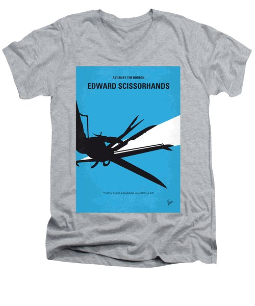 No260 My Scissorhands Minimal Movie Poster Men's V-Neck T-Shirt by Chungkong Art