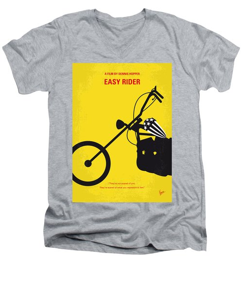 No333 My Easy Rider Minimal Movie Poster Men's V-Neck T-Shirt by Chungkong Art