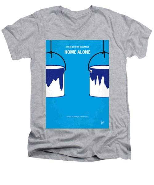 No427 My Home Alone Minimal Movie Poster Men's V-Neck T-Shirt by Chungkong Art